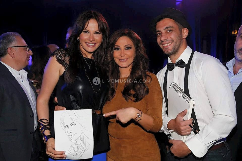 Caricature for the singer star Elissa
