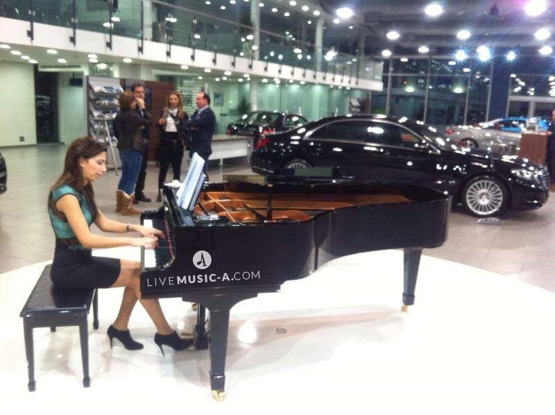 Playing at Mercedes Benz Lebanon show room