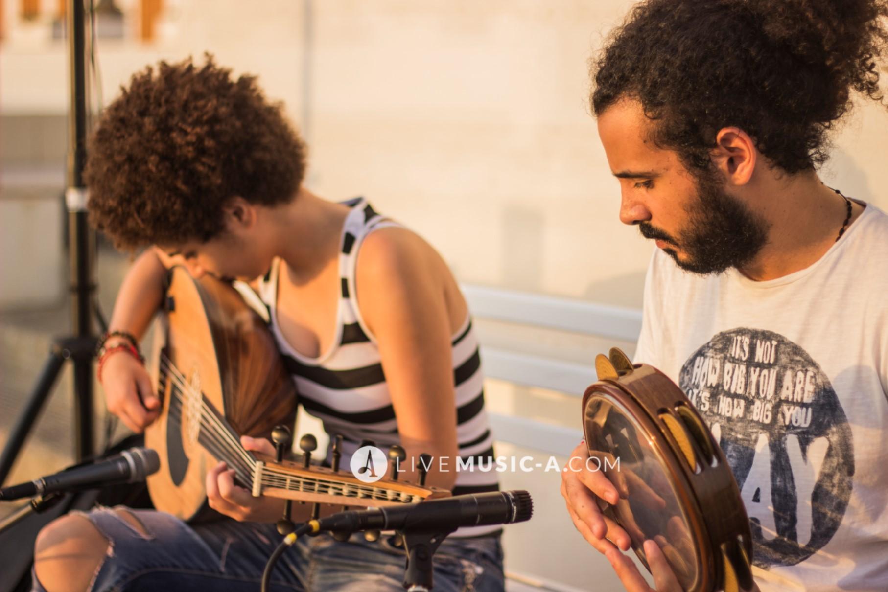 Oud & Riq During Rehearsals