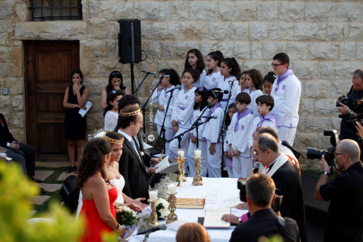 Ceremony at Domaine de Zekryte with Children's Choir