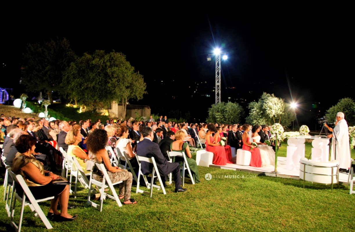 Ceremony starting at jardin des Oliviers - Ghazir