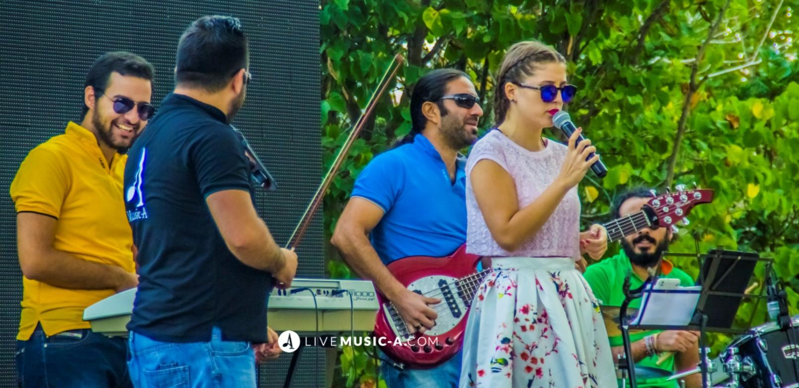 Lebanese Singer Lindsay and Orienlatin Band