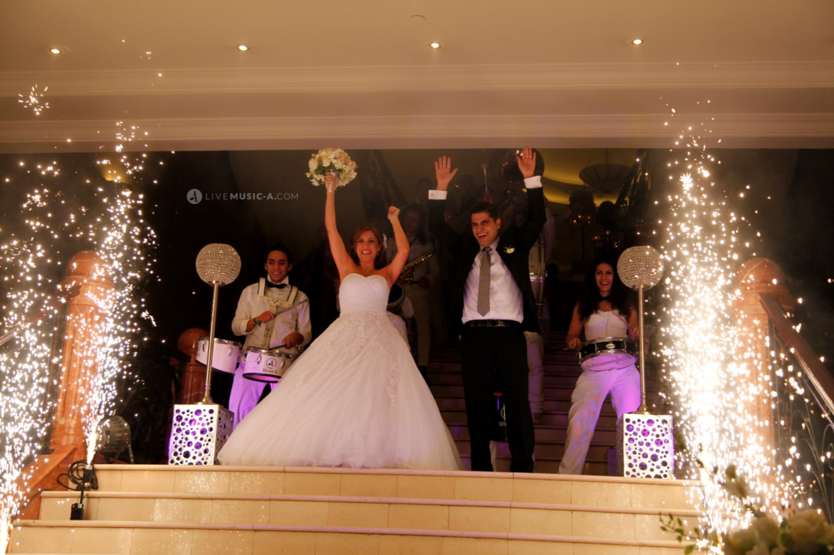 Bride and grooms entrance Dubai Hall Habtour hotel