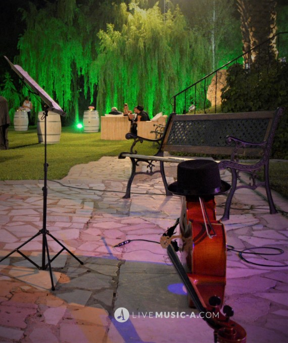 street stage during a wedding at domaine du comte