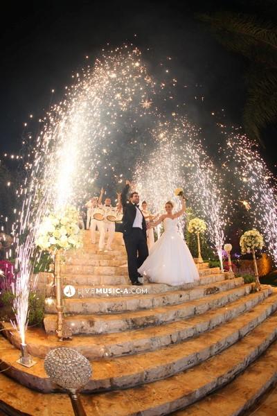 Wedding entrance at Michael's Garden