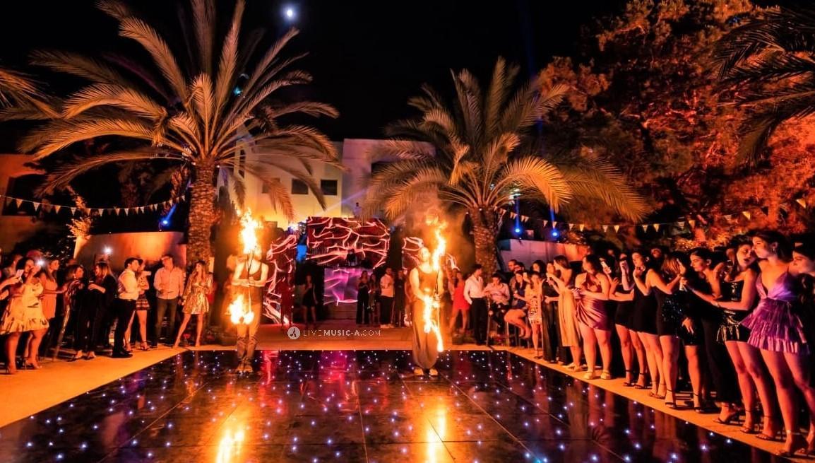 Fire show in Amman - Jordan