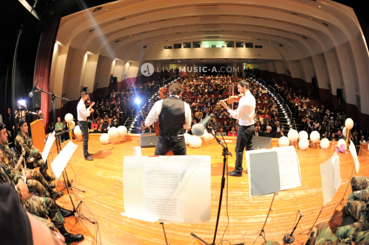 Concert with the lebanese army music at USJ abou khatter theatre