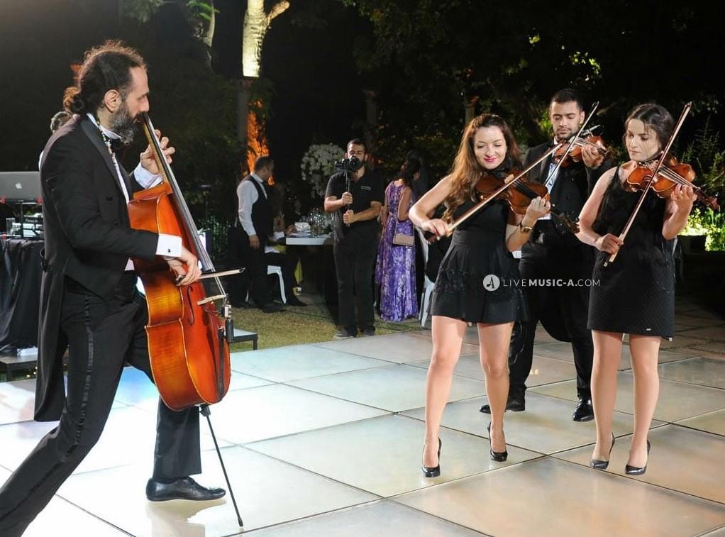 Cello against the violin trio