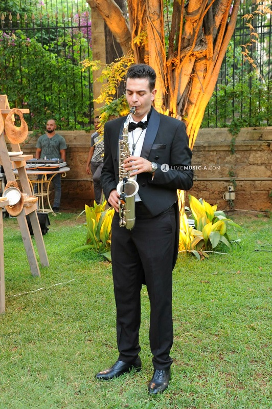 Saxophone at the reception