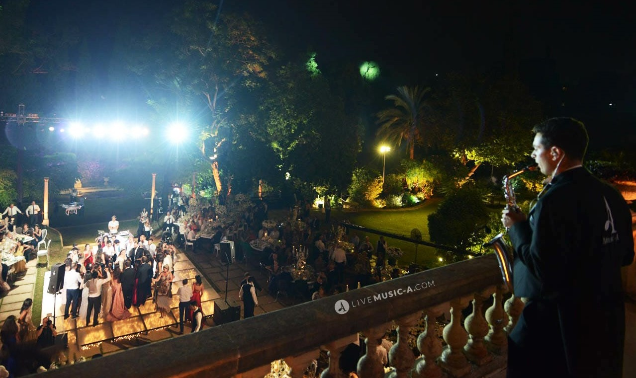 Dance time with Sax at Sursock Palace