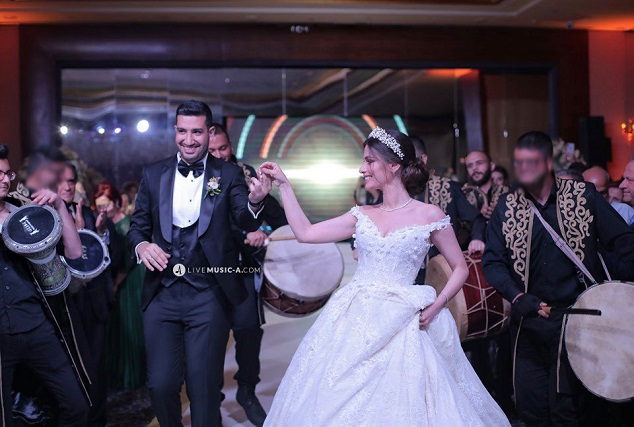Wedding Entrance at The pearl - Le Royal Hotel Dbayeh