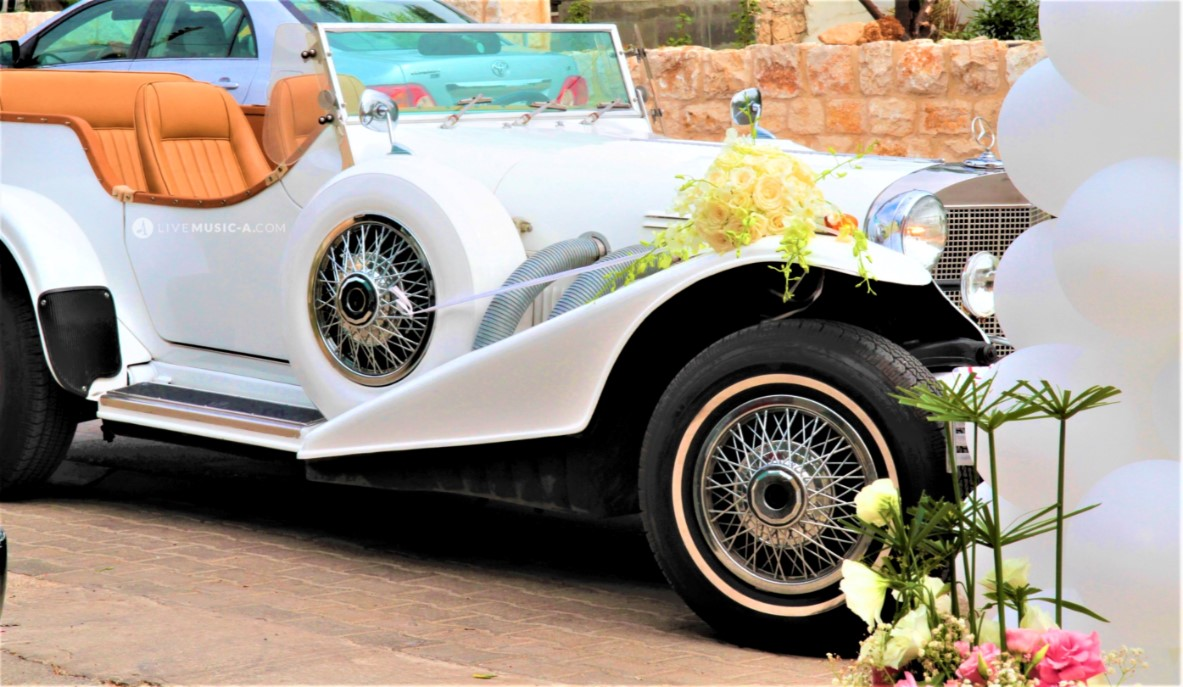 The Bride's Car is ready to go...