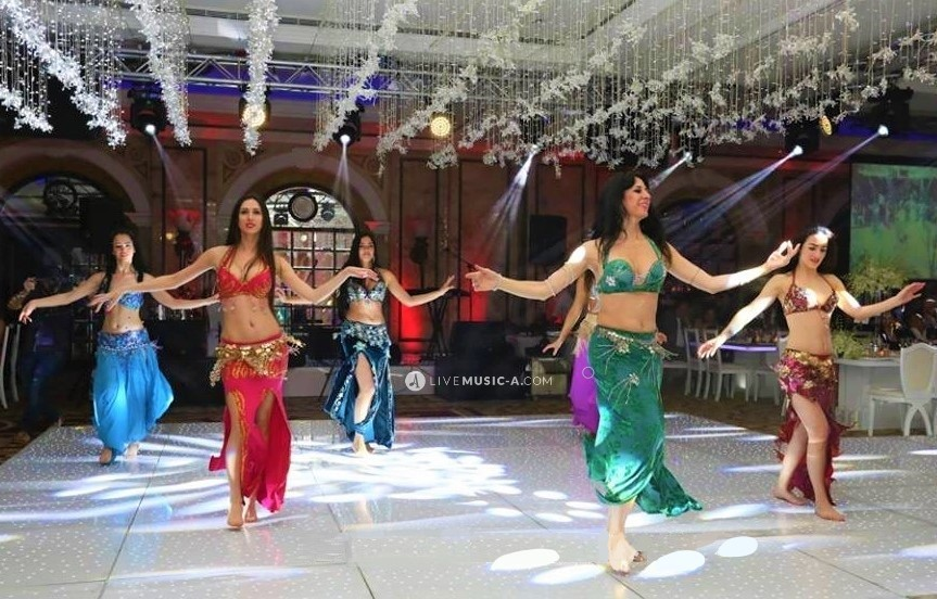 6 oriental belly dancers at Phoenicia intercontinental
