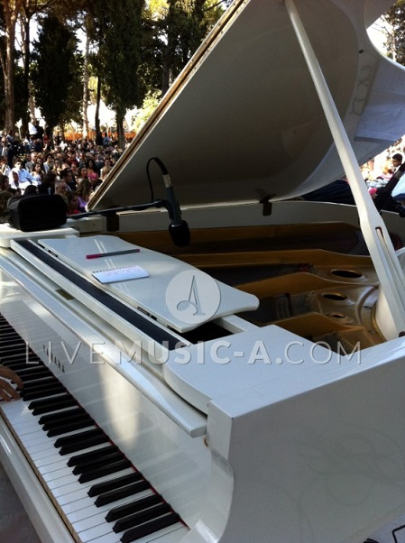 grand white piano , yes it is ;)