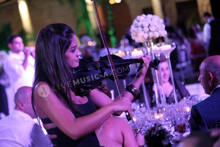 Violinist hanine during dinner time performing the best lebanese & occidental music