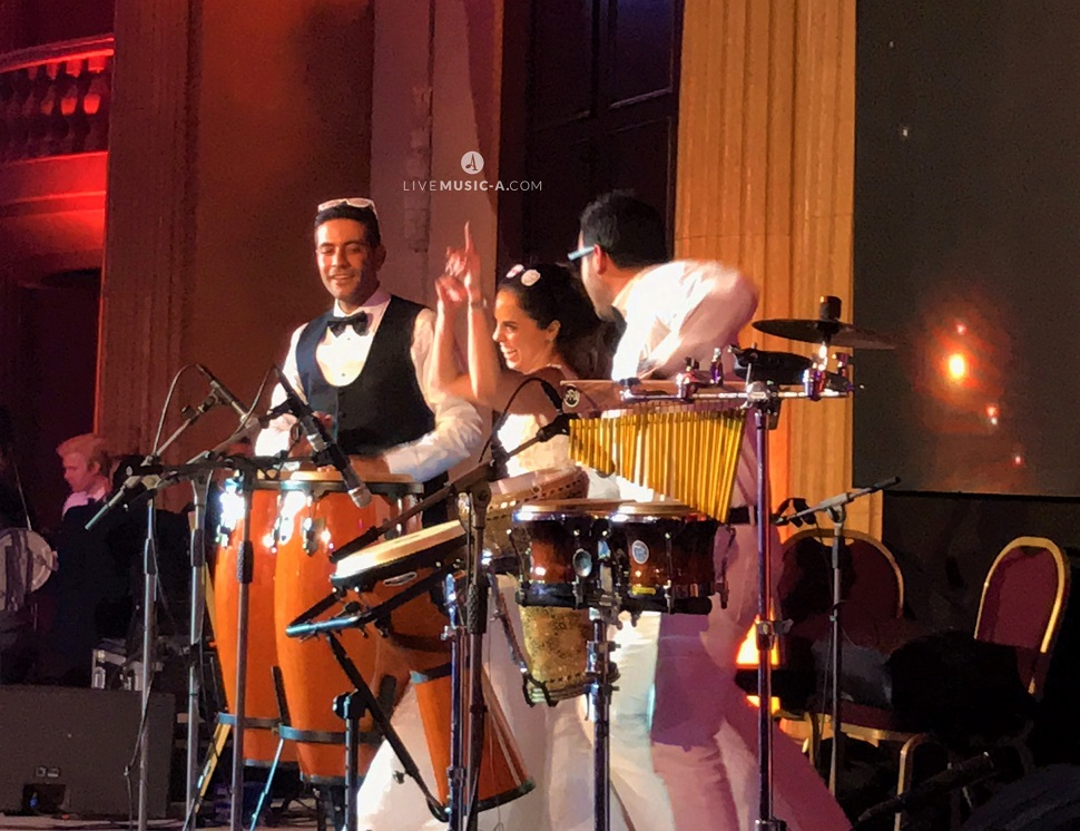 Performing with the groom and Bride at Hilton Hotel Grand habtour