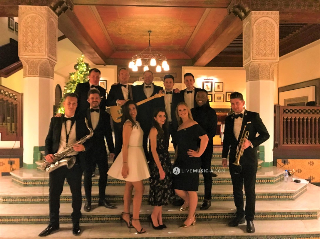 the All Stars international singers at La Mamounia Hotel