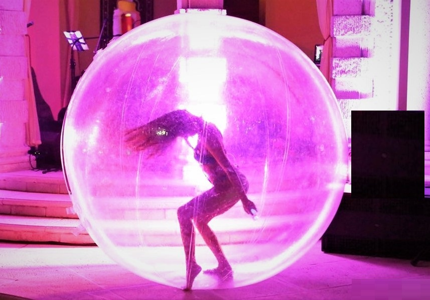 Dancer inside a ball