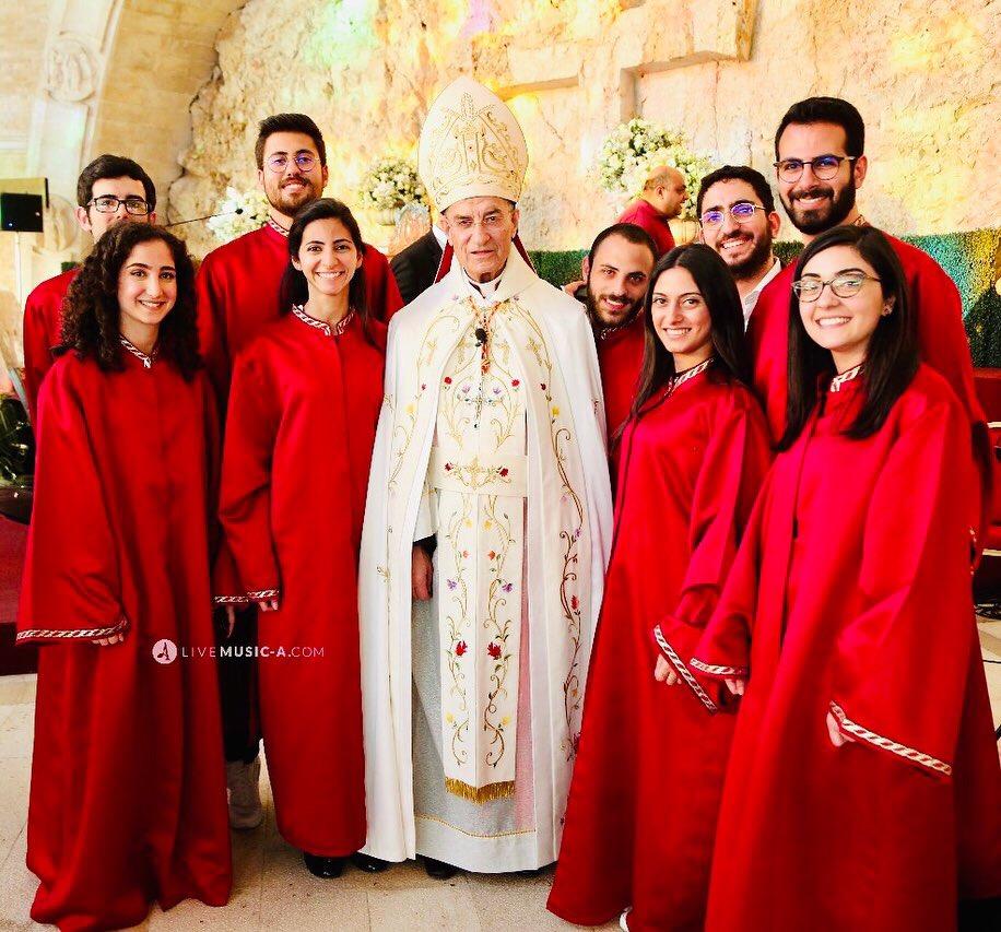 with Patriach Elias Peter Hoayek