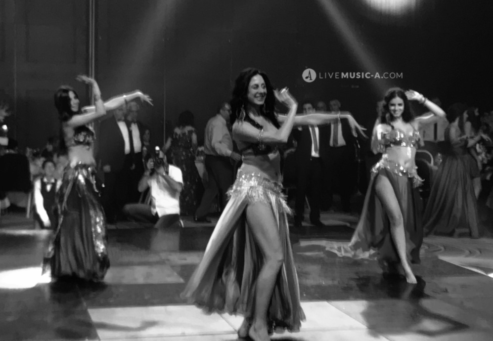 in Black and white belly dance