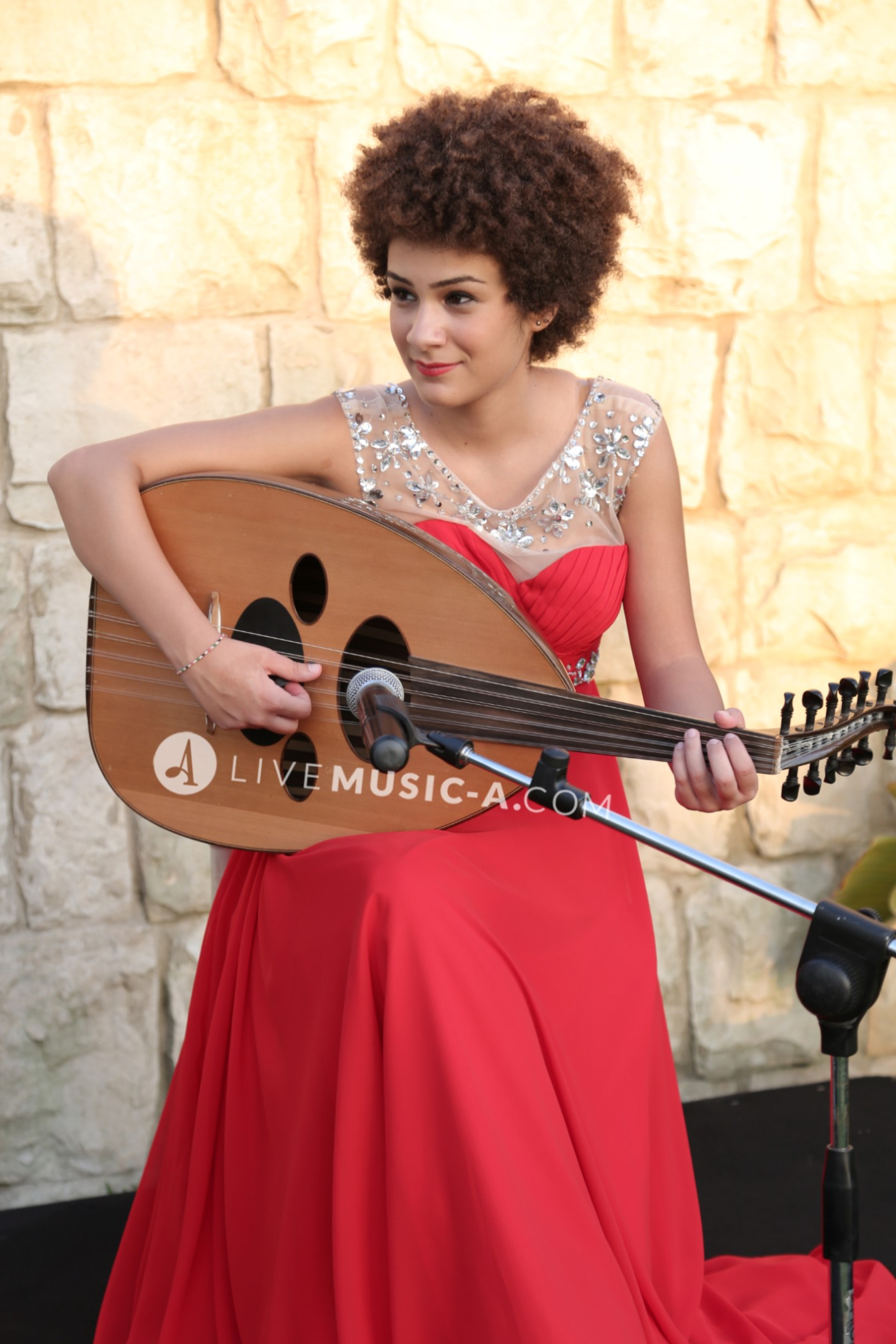 Oud Player - Red Dress