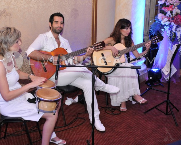Guitar-A Trio at Biel for a welcome-drinks reception