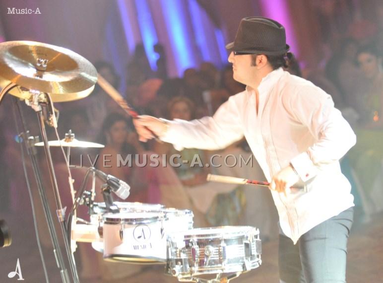Jazz Drummer performing a dazzling show at Pavillon Royal Biel Beirut