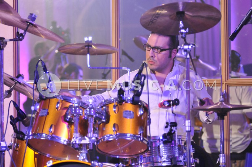 George sayah on the Drums at Biel