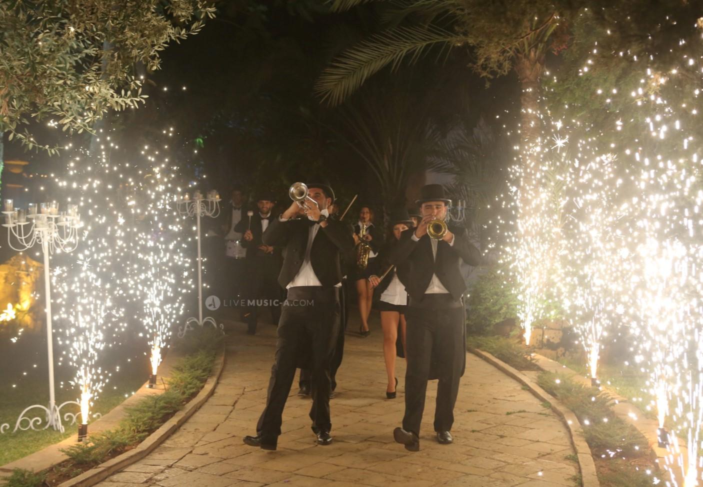 Entrance Parade in Tuxedos at Sursock the gardens