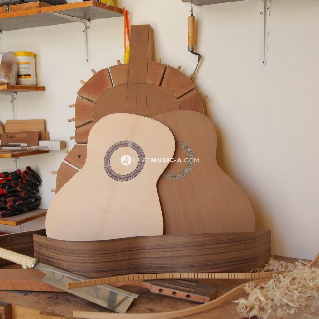 Classical guitar parts... Solera... Assembling the guitar
