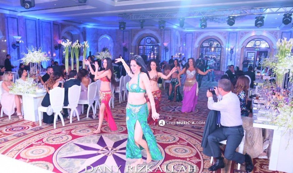 Wedding entrance at Phoenicia with 6 Oriental Belly Dancers