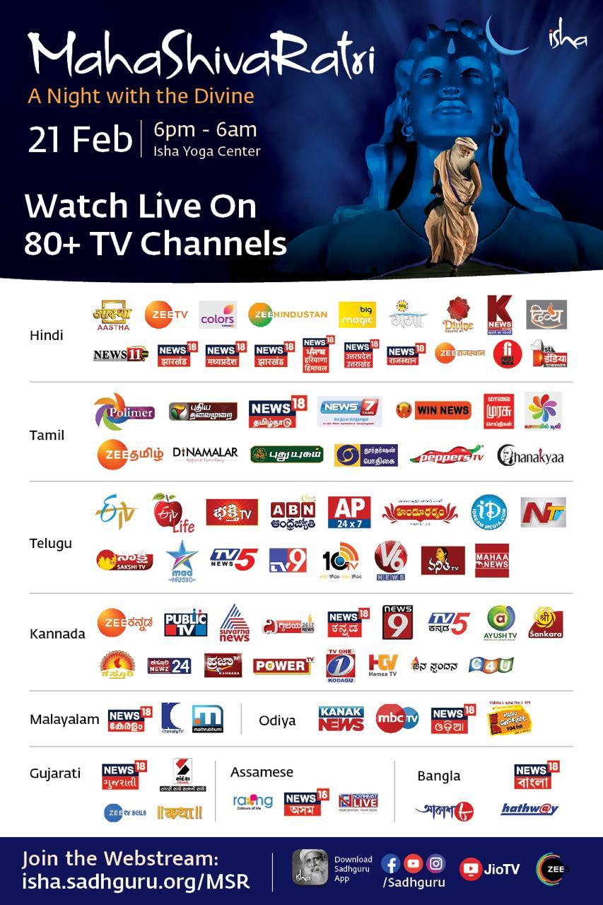 Broadcasted to more than 80+ Tv channel in india and more abroad, reaching more than 60million people worldwide