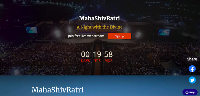 Countdown for our Oriental Band Performance Mahashivratri Festival at Isha Yoga Center